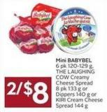 Mini Babybel 6 Pk 120-129 g - The Laughing Cow Creamy Cheese Spread 8 Pk 133 g or Dippers 140 g or Kiri Cream Cheese Spread 144 g
