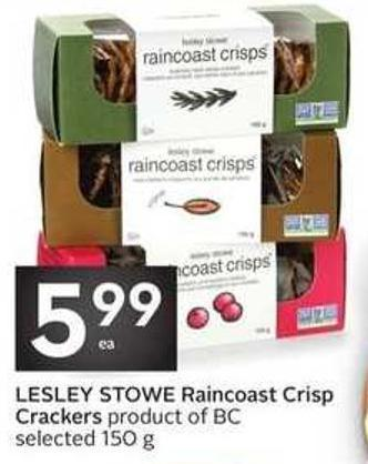 Lesley Stowe Raincoast Crisp Crackers