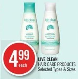 Live Clean Hair Care Products