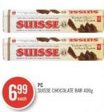 PC Suisse Chocolate Bar 400g