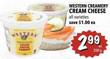 Western Creamery Cream Cheese 250 g