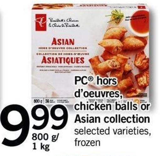 PC Hors D'oeuvres - Chicken Balls Or Asian Collection - 800 G/ 1 Kg