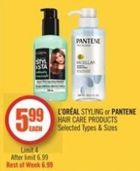 L'or�al Styling or Pantene Hair Care Products