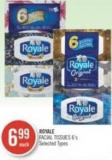 Royale Facial Tissues 6's