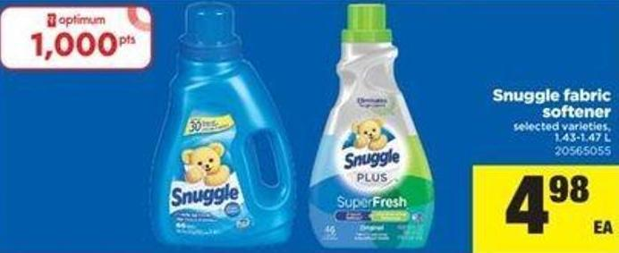 Snuggle Fabric Softener - 1.43-1.47 L