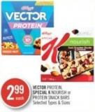 Vector Protein - Special K Nourish or Protein Snack Bars