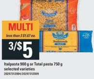 Italpasta - 900 G Or Total Pasta - 750 G