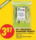 Pc© Organics Romaine Hearts - Pkg of 3