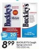 Buckley's Cough Syrup - 20 Air Miles Bonus Miles