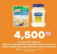 Hellmann's Mayonnaise Or Specialty Sauces - Knorr Side Dishes - Bouillon (Including Veloutine) - Soup Or Red Rose Tea