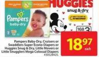 Pampers Swaddlers or Cruisers Econo Diapers