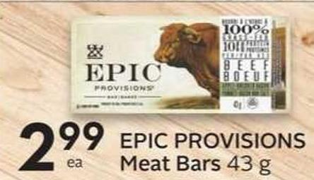 Epic Provisions Meat Bars