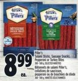 Piller's Salami Sticks - Sausage Snacks - Pepperoni Or Turkey Bites