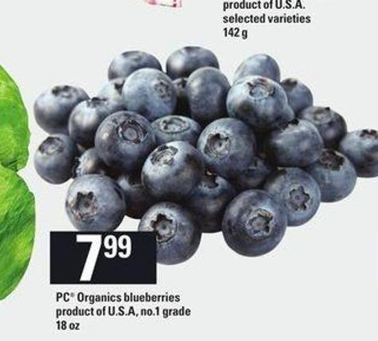 PC Organics Blueberries - 18 Oz
