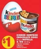 Kinder Surprise Chocolate Eggs - 20 g or Nutella & Go - 52-54 g