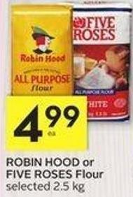 Robin Hood or Five Roses Flour - 25 Air Miles Bonus Miles