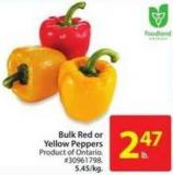 Bulk Red or Yellow Peppers