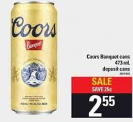 Coors Banquet Cans - 473 mL