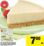 PC Plant-based Original Cheescake-style Dessert - 540/600 g