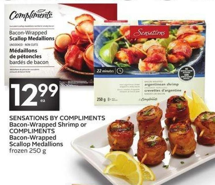Sensations By Compliments Bacon-wrapped Shrimp or Compliments Bacon-wrapped Scallop Medallions