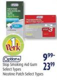 Option+  Stop Smoking Aid Gum  Select Types