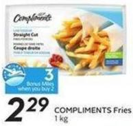 Compliments Fries 1 Kg - 3 Air Miles