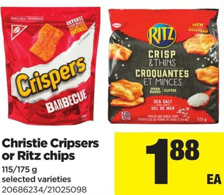 Christie Cripsers Or Ritz Chips - 115/175 g
