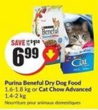 Purina Beneful Dry Dog Food 1.6-1.8 Kg or Cat Chow Advanced 1.4-2 Kg