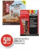 Clif  Nut Butter or Kind Bars 4's