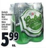 Grolsch Non-alcoholic Beer 4 X 500 mL