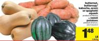 Butternut - Buttercup/ Kabocha - Acorn Or Spaghetti Squash Or Sweet Potatoes