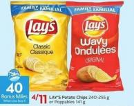 Lay's Potato Chips 240-255 g or Poppables 141 g - 40 Air Miles