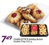 Charlotte's Holiday Butter Cookie Tray
