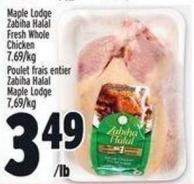 Maple Lodge Zabiha Halal Fresh Whole Chicken