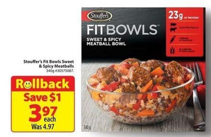 Stouffer's Fit Bowls Sweet & Spicy Meatballs