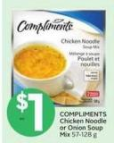 Compliments Chicken Noodle or Onion Soup Mix