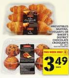 Irresistibles Muffins - Croissants Or Baker's District Chocolate Croissants
