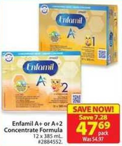 Enfamil A+ or A+2 Concentrate Formula