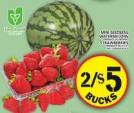 Mini Seedless Watermelons Or Strawberries