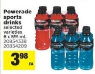 Powerade Sports Drinks - 6 X 591 mL