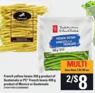French Yellow Beans - 350 G Or PC French Beans - 400 G