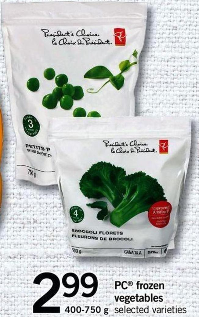 PC Frozen Vegetables - 400-750 G