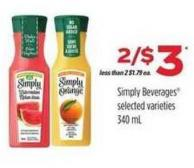 Simply Beverages - 340 mL