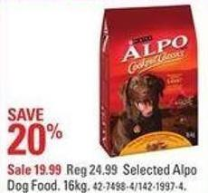 Selected Alpo Dog Food