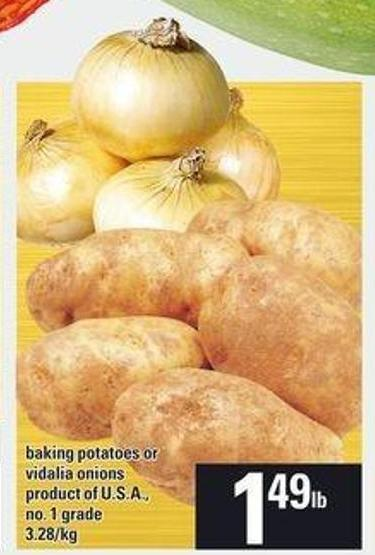Baking Potatoes Or Vidalia Onions