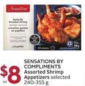 Sensations By Compliments Assorted Shrimp Appetizers Selected 240-355 g