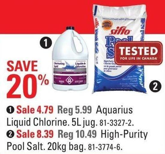 Aquarius Liquid Chlorine