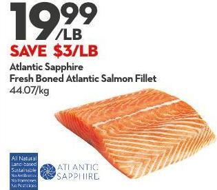 Atlantic Sapphire Fresh Boned Atlantic Salmon Fillet