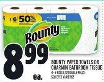 Bounty Paper Towels or Charmin Bathroom Tissue