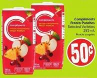 Compliments Frozen Punches Selected Varieties 283 mL